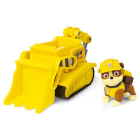 PAW Patrol, Rubble's Bulldozer Vehicle with Collectible Figure