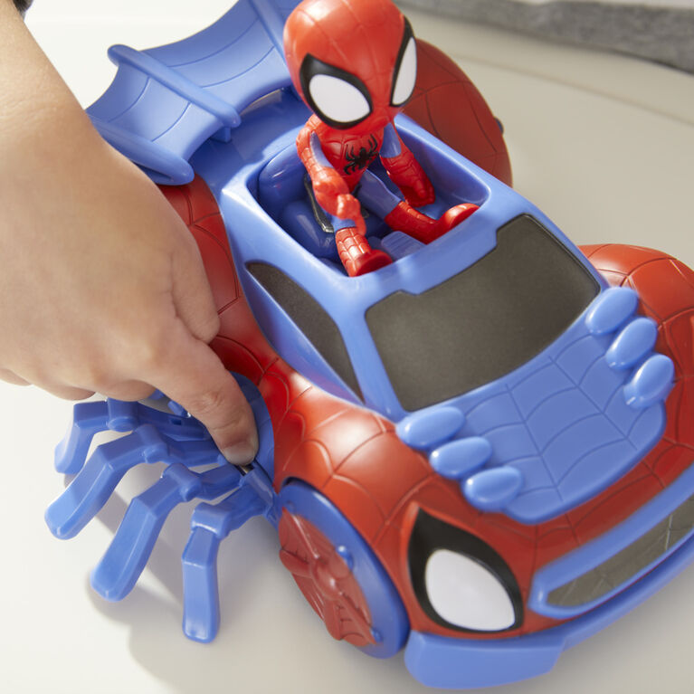 Marvel Spidey and His Amazing Friends Change 'N Go Web-Crawler And Spidey Action Figure