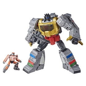 Transformers Studio Series 86-06, figurines Grimlock et Autobot Wheelie 1986