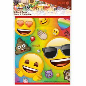 Rainbow  Emoji Loot Bags, 8 pieces