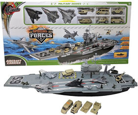 Dragon Wheels - Special Forces Aircraft Carrier - Includes 9 Vehicles