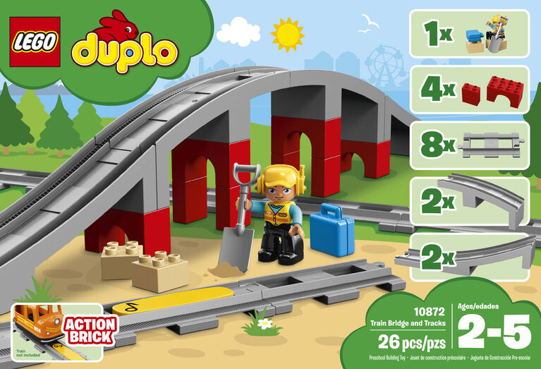 LEGO DUPLO Town Train Bridge and Tracks 10872