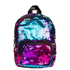 Gradiant Silver Magic Sequin Mini Backpack