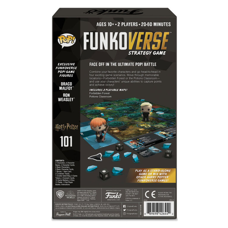 Funkoverse Strategy Game: Harry Potter 2-Figure Pack (2 Players) - English Edition