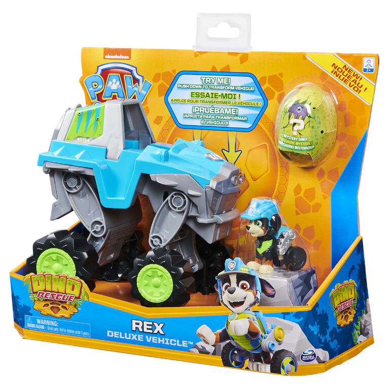 Paw Patrol Dino Rex Deluxe Vehicle - R Exclusive