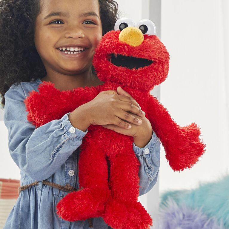 Sesame Street Tickliest Tickle Me Elmo, jouet en peluche de 35 cm qui parle et rit - Édition Anglaise