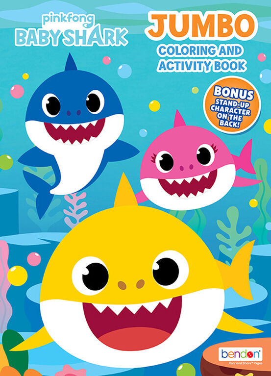 Baby Shark 64 page Jumbo Colouring and Activity Book ...