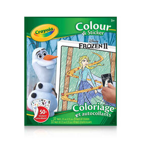 Crayola Colour & Sticker Book Disney Frozen II