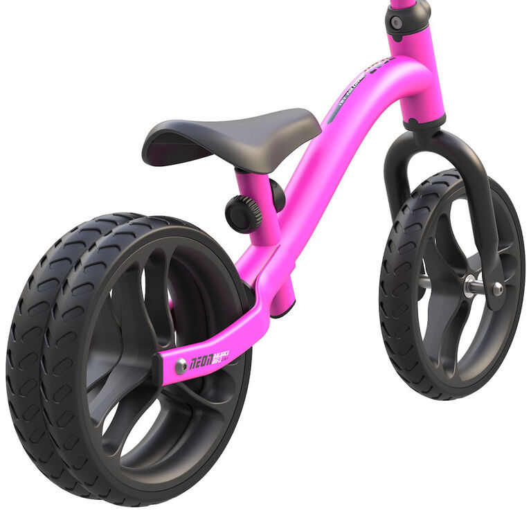 Neon 2-In-1 Balance Bike Pink For Kids From 18M-4Years// Draisienne Neon 2-En-1 Rose Pour Enfant De 18M-4 Ans