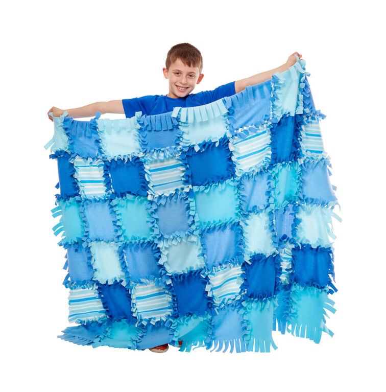 Melissa & Doug Created by Me - Striped Fleece Quilt