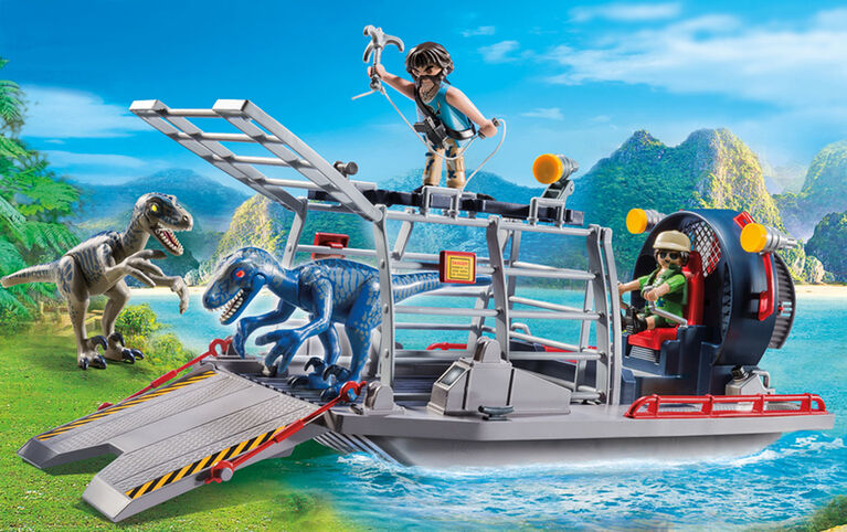 Playmobil - Enemy airboat with Raptor
