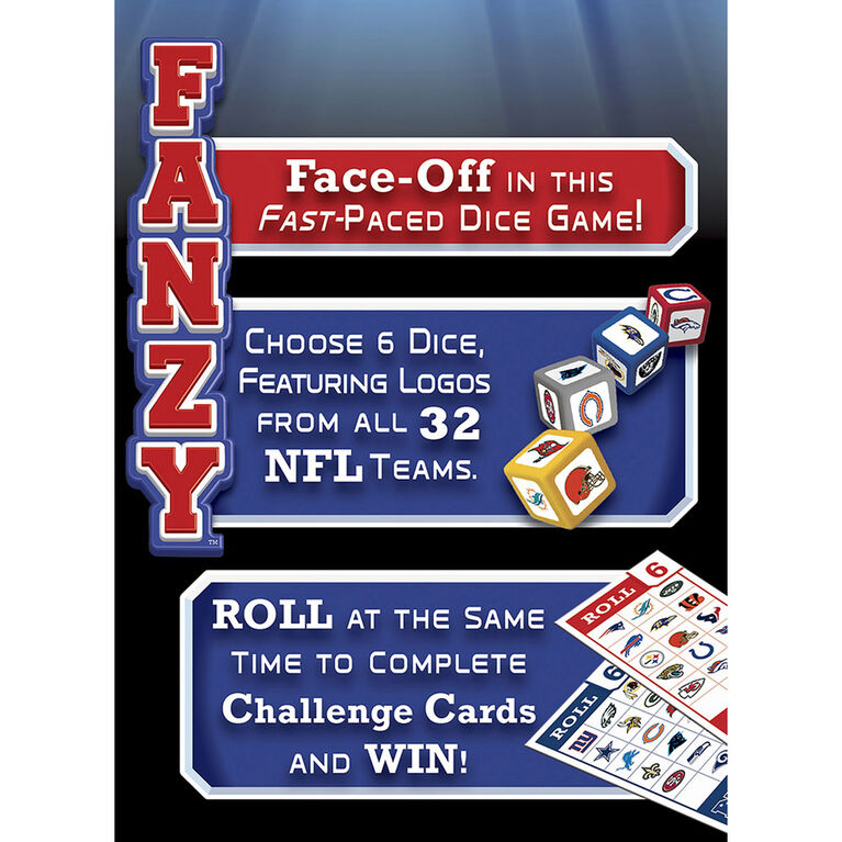 NFL Fanzy Speed Dice Game - English Edition