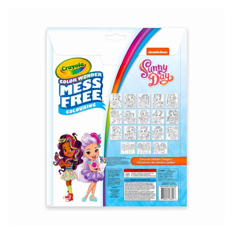 Pages et mini marqueurs Crayola Color Wonder sans dégâts Sunny Day