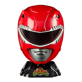 Power Rangers Lightning Collection - Mighty Morphin Red Ranger Premium Collector Helmet Full-Scale for Display - R Exclusive
