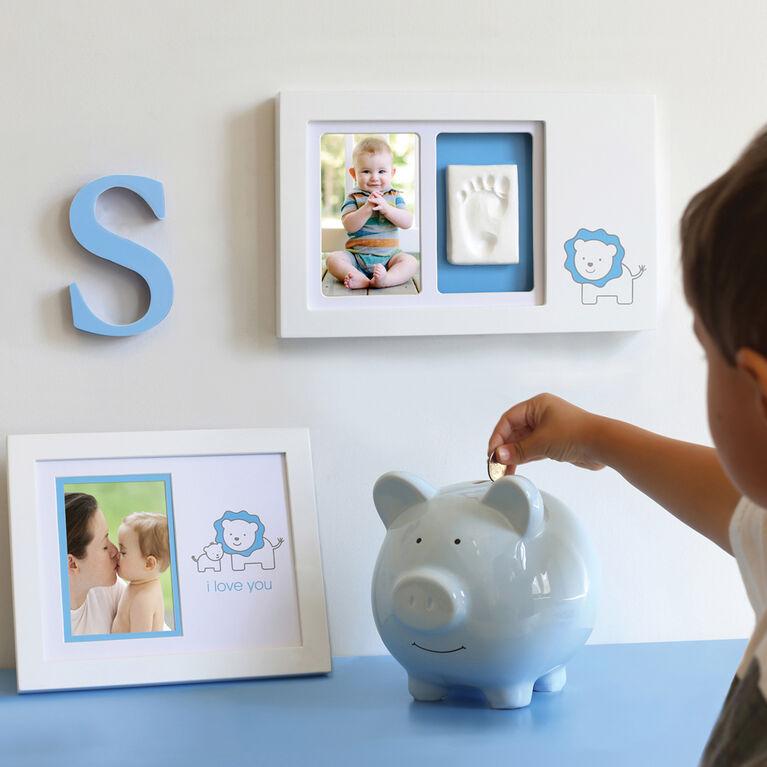 Pearhead Ceramic Piggy Bank - Blue