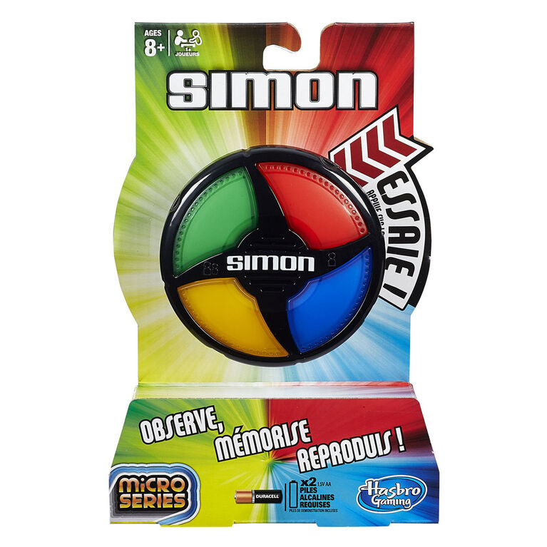 Hasbro Gaming - Simon Micro Series Game - French Edition