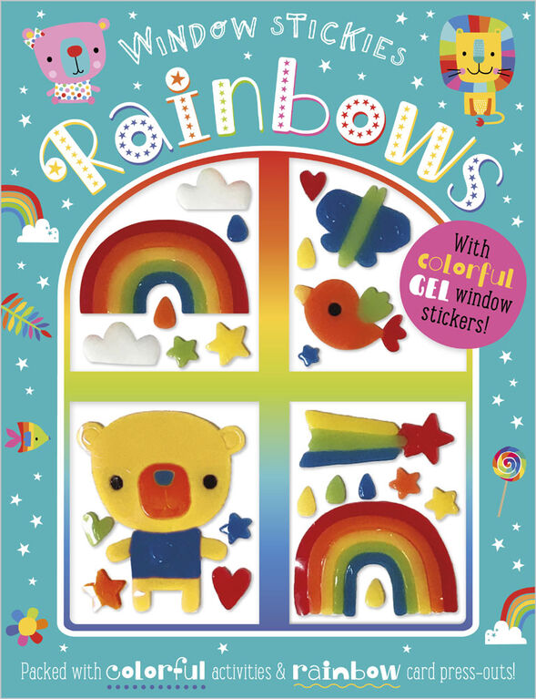 Window Stickies Rainbows - English Edition