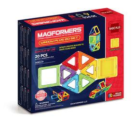 Magformers - Coffret Fenêtre avec 40 pièces aux couleurs de l'arc-en-ciel
