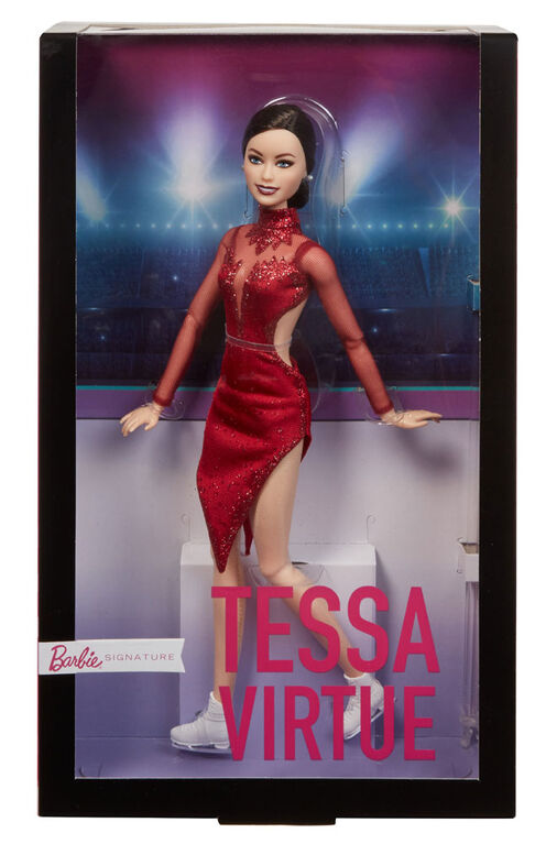 Tessa Virtue Barbie Shero Doll, Wearing Red Figure Skating Costume and Ice Skates - R Exclusive