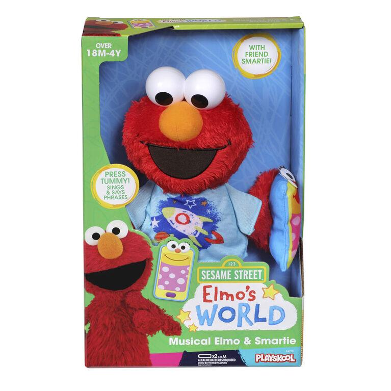 Sesame Street, peluches musicales Elmo et Smartie - Notre exclusivité - Édition anglaise