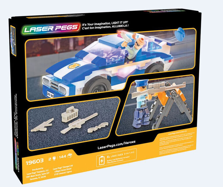 Laser Pegs Heroes Collection - Police Pursuit Car