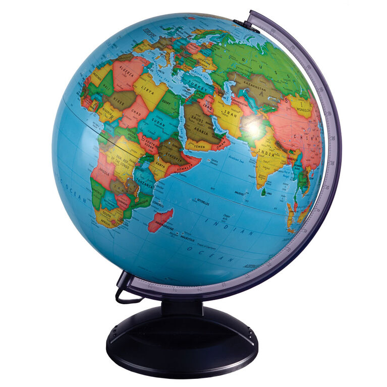 EduScience - Globe terrestre illuminé jour et nuit de 30 cm - Notre exclusivité