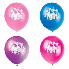 "Trolls 12"" Latex Balloons 8 pieces"