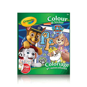 Crayola Colour & Sticker Book, Paw Patrol