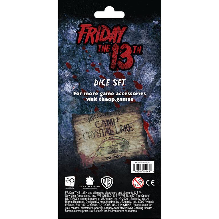 Friday the 13th Dice Set - English Edition