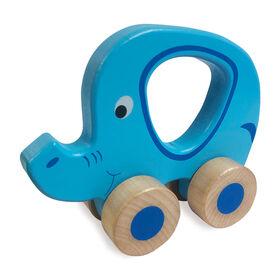 Woodlets - Animal Roll Along - l'éléphant - Notre exclusivité