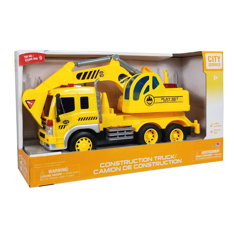 City Service: Construction Truck: Excavation Truck.