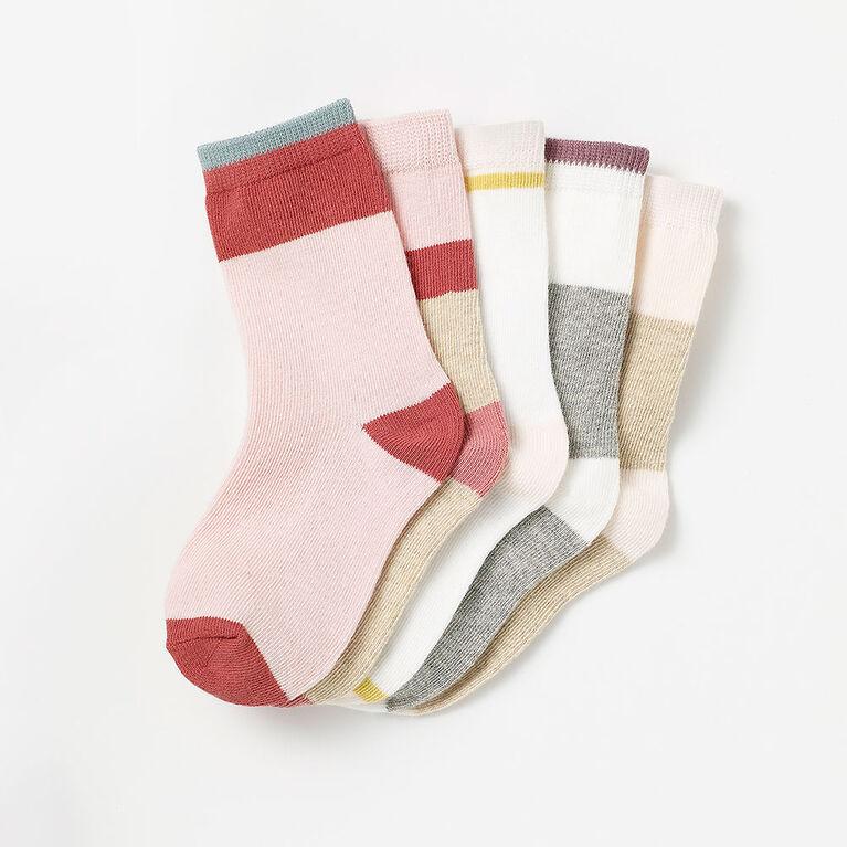 2-3 ans chaussettes mi-mollet de base - rose pâle