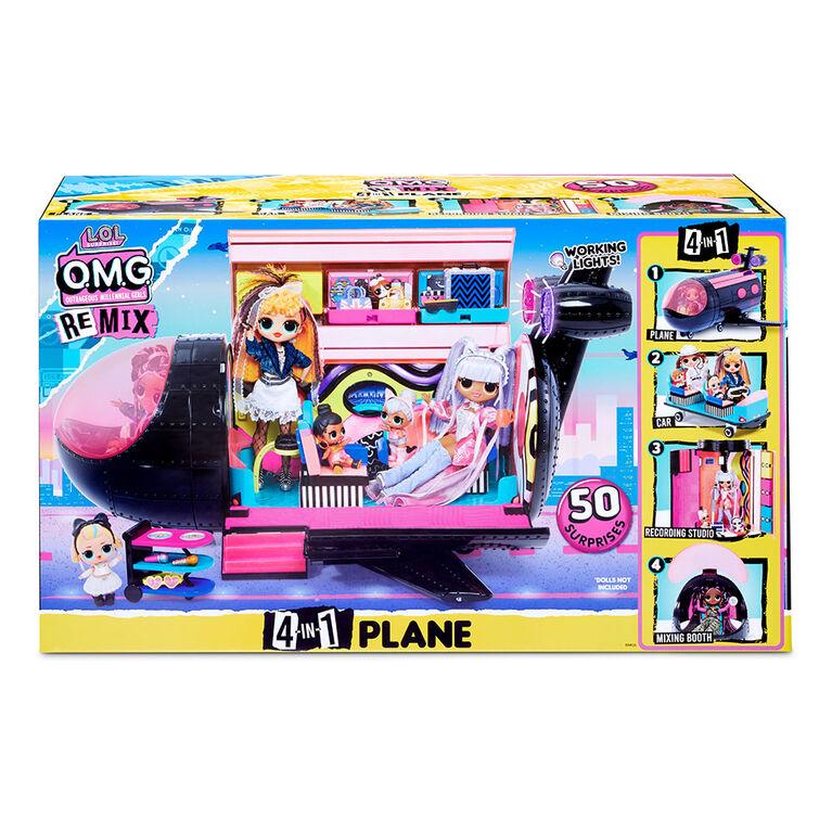Jeu 4 en 1 d'avion L.O.L. Surprise! O.M.G. Remix : 50 surprises