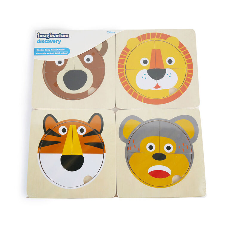 Imaginarium Discovery - Wooden Baby Animal Puzzle Assortment - Animal Face