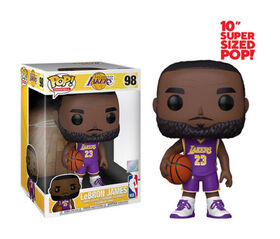 Figurine en Vinyle LeBron James par Funko POP! Los Angeles Lakers