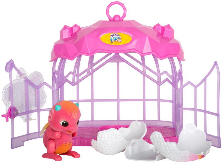 Little Live Pets - Cage de cristal du Dragon surprise.