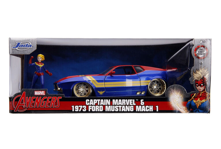 1973 Ford Mustang Mach 1 with Captain Marvel Figure