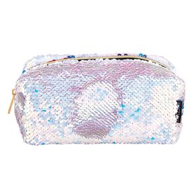 Style Lab Magic Sequin Cosmetic Bag - Lavender