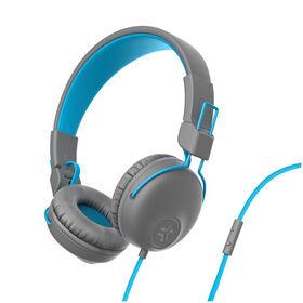 JLab Audio Studio On-Ear Headphones Gray/Blue