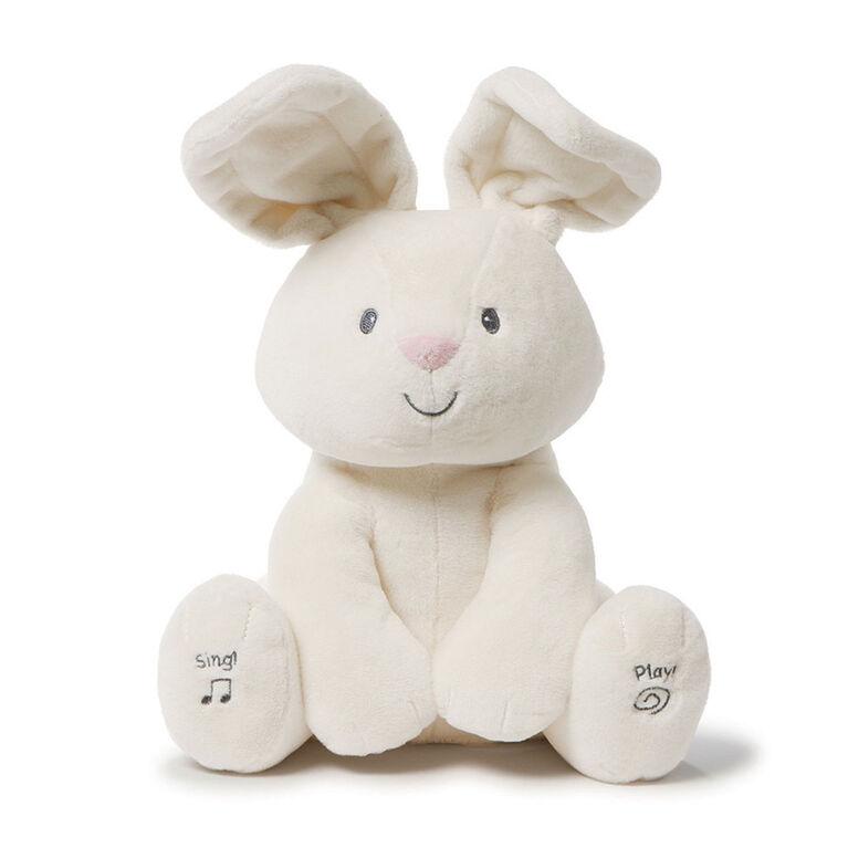 Baby GUND, Peluche animée Flora la lapine, crème, 30,5cm