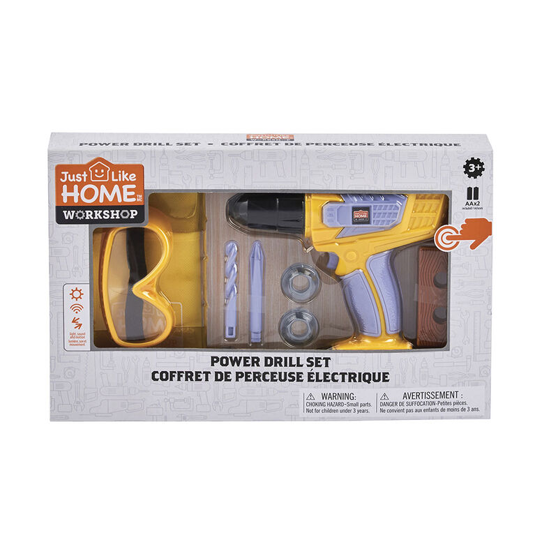 Just Like Home Workshop - Power Drill Set 10 Pieces
