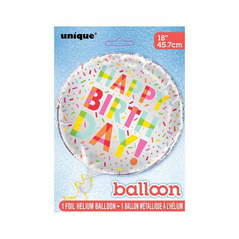 """Ballon aluminium rond, 18 """" - Donut Party - Édition anglaise"""