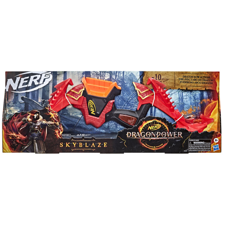 Nerf DragonPower Skyblaze Dart Bow, Inspired by Dungeons and Dragons - R Exclusive