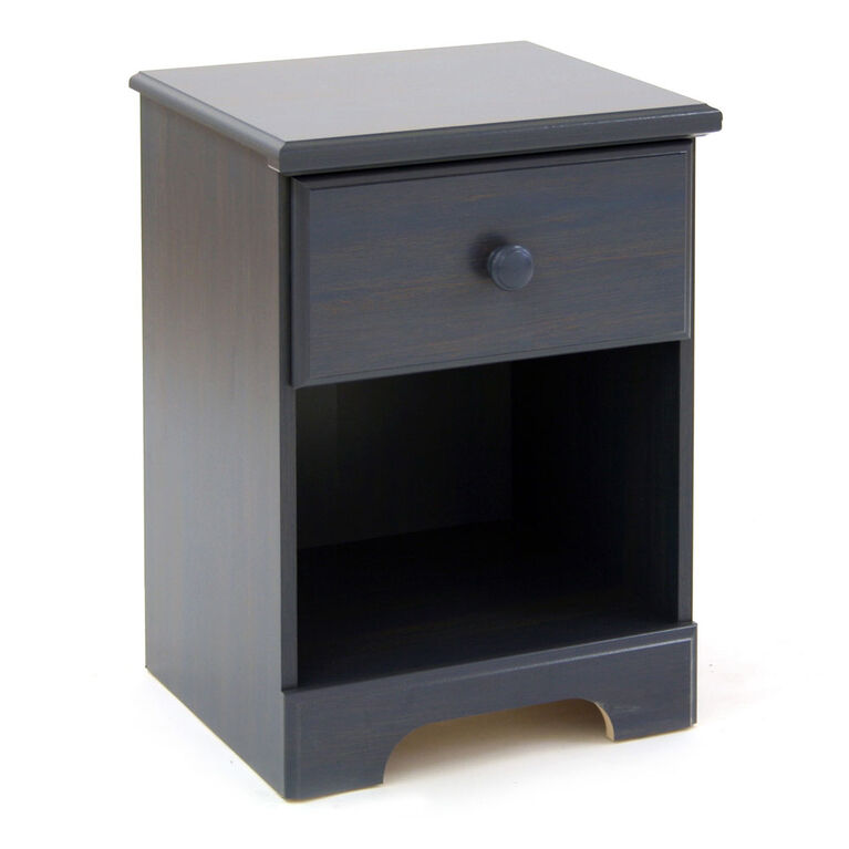 Summer Breeze 1-Drawer Nightstand - End Table with Storage- Blueberry