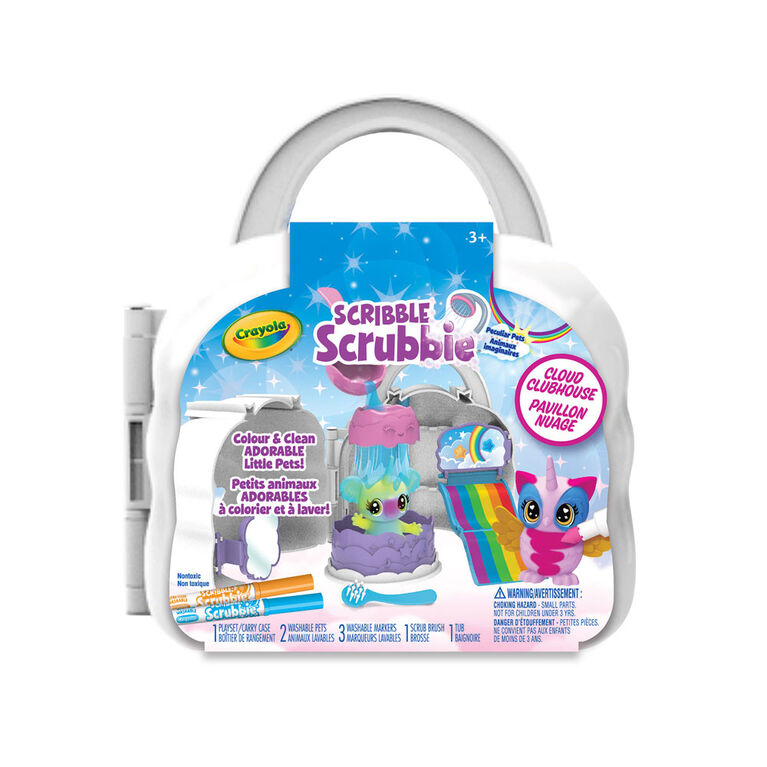 Crayola Scribble Scrubbie Peculiar Pets, Cloud Clubhouse Play Set