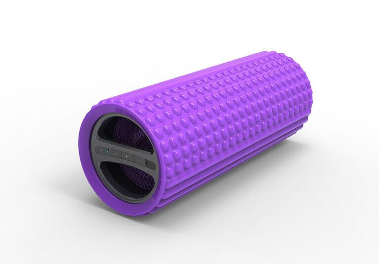 Rouleau en mousse pour exercice Sharper Image avec haut-parleur Bluetooth intégré - Violet