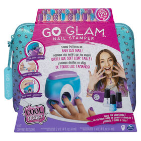 Cool Maker, GO GLAM Nail Stamper, onglerie avec 5 motifs pour décorer 125 ongles.