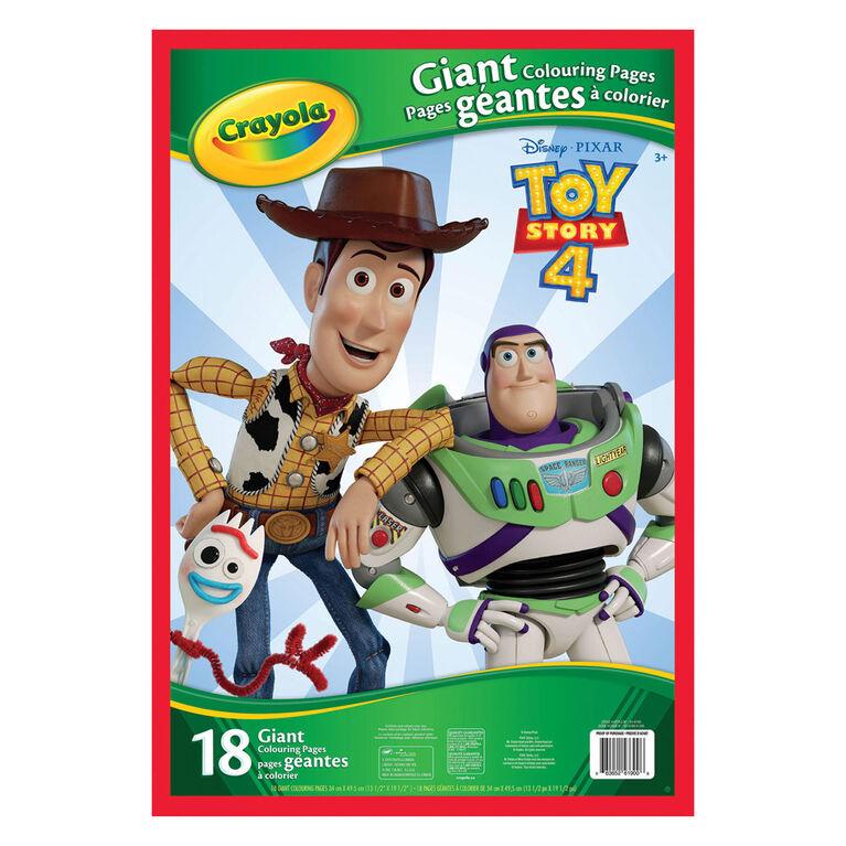 Pages à colorier géantes Crayola, Toy Story 4