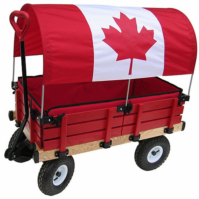 Millside - Wooden Canada Wagon 20 inch x 38 inch with Pads