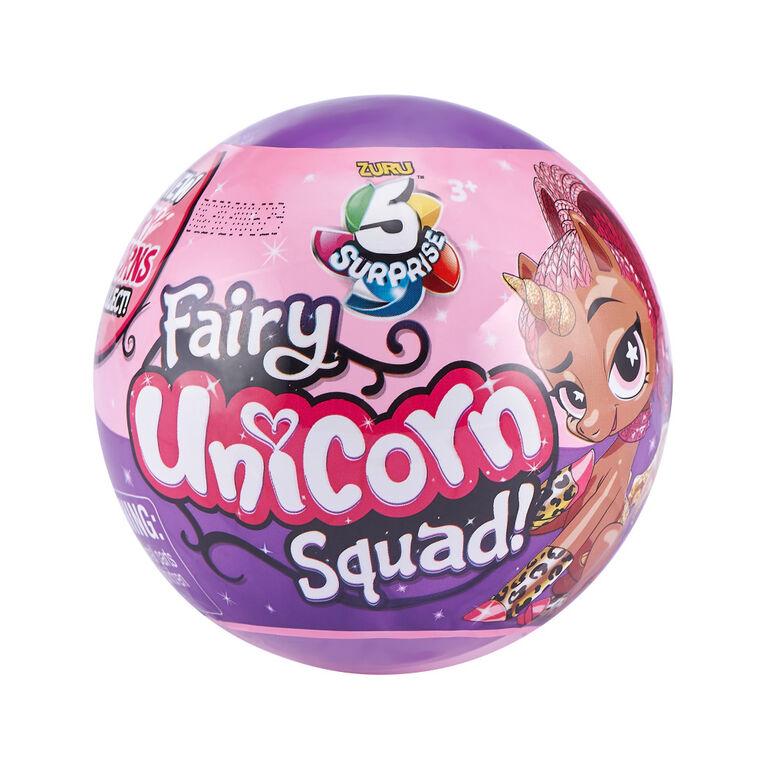 5 Surprise Unicorn Squad Series 3 Fairy Unicorns Mystery Collectible Capsule by ZURU